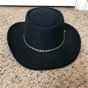 Par Vel Black Boho Western Hat